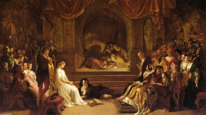 Daniel-Maclise-The-Play-Scene-from-Hamlet